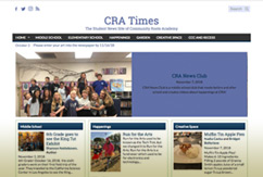 Front page of the CRA Student Newspaper